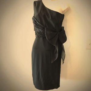 Marchesa Notte cocktail black dress sz6